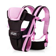 Breathable Ergonomic Infant Baby Carrier Adjustable Wrap Sling Newborn Backpack Blue