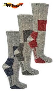 2 Paar Trekkingsocken mit 85% Wolle (Merino) Outdoor Sport Socken Wandersocken