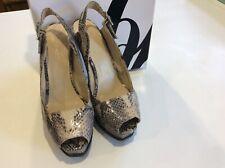 Nine West grey animal print sling back shoes size 6w/uk 4 originally cost £110