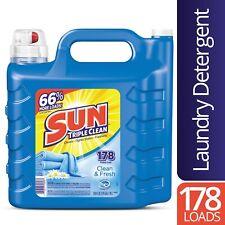 Sun Liquid Laundry Detergent, Clean Fresh, 250 Ounce, 178 Loads, Pack Of 6