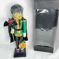 Halloween Bombay Company Frankenstein Nutcracker bat jack-o-lantern EUC
