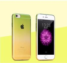 New Colorful Silicone Rubber ShockProof Clear Soft Case Cover For iPhone6S 7Plus
