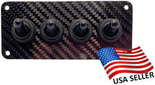 Waterproof Carbon Fiber 4 Toggle Switch Panel