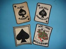 VIETNAM WAR SET OF 4 ACE OF SPADE AVIATION PATCHES