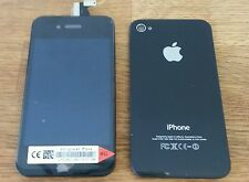 REPLACE iPHONE 4G BLACK OEM QAULITY LCD SCREEN DIGITIZER + BACK COVER + BUTTON