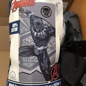 "Marvel Black Panther Beach Towel 30 x 60"" Huge pool beach NEW chad boseman rip"
