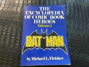 1976 ENCYCLOPEDIA OF COMIC HEROES - BATMAN VOL 1 softcover book