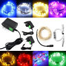 DC12V Starry Fairy Lights With Micro LEDs 2/5/10m Silver Wire Controller+Adapter