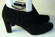 NINE WEST WOMENS BLACK SUEDE ANKLE BOOTS BOOTIES BOTAS SIZE 11M    C132