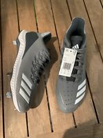 """adidas Icon Bounce Low Baseball Cleat """"Grey/ White"""" Size 10.5 Men's CG5250 Metal"""