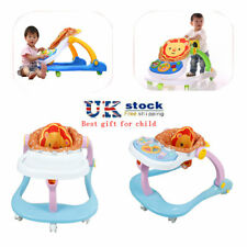 UK Baby Walker First Steps Push Along Bouncer Activity Music Ride On Car Melody