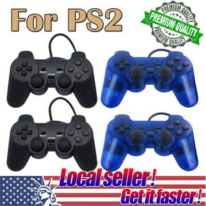 USA  1/ 2PC Twin Shock Game Controller Joypad Pad for Sony PS2 Playstation 2 di