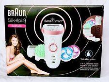 BRAUN Silk-épil 9 SkinSpa SensoSmart 9/990 Wet/Dry Epilator +13 Extras NEW