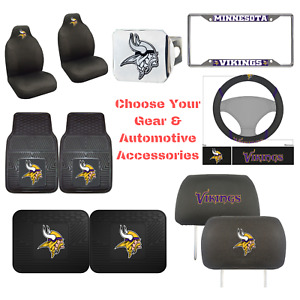 NFL Minnesota Vikings Choose Your Gear Auto Accessories Official Licensed