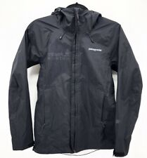 d3c3152849a Patagonia Windbreaker Jacket Womens XS Black Hooded Temple Rowing Branded
