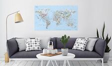 Dive World Map Large Wave Travel Guide poster art gift picture spots
