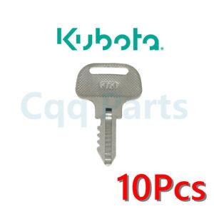 10pcs Ignition Key 55364-41180 For Kubota F Series Marked 373 F2000 2100 2100E