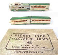 Marx 7674 Union Pacific M10005 Set w/Original Box Green & Cream NICE!