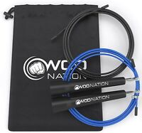 Black WOD Nation Speed Jump Rope - Perfect Skipping Rope for CrossFit
