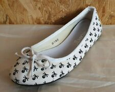 Zapatos Mujer - Bailarinas - Talla 38 - Blanco/Caravelas,Cráneos - Nuevo