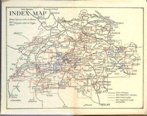 SWITZERLAND RUSSELL MUIRHEAD BLUE RAILROAD GUIDE 76 MAPS AUTO HISTORY BOOK RMN