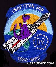RARE ORIGINAL TITAN IV 34D-2 DINO KH-9 NRO DSP USAF DOD SATELLITE Mission PATCH