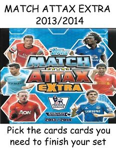 Match Attax Extra 13/14 Pick / Choose The Base & Shiny Cards You Need 2013/2014