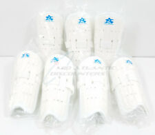 7 Pair of Athletic Specialties 8 Inch Shin Guards, White
