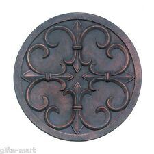 French Fleur de lis emblem Wall hanging art garden outdoor terrace patio Plaque