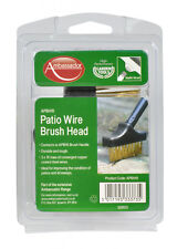 AMBASSADOR PATIO WIRE BRUSH HEAD DURABLE DRIVEWAYS PATHS ETC