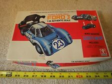 Rare! Vintage Bandai battery operated Ford J, 1/24 scale model car kit. Works!