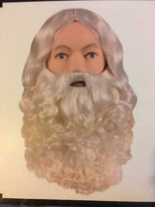 Father Christmas Deluxe wig and beard set Professional Quality XL Off White