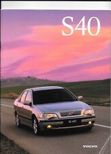VOLVO S40 (INC. T4, SE AND CD) SALES BROCHURE JUNE 1997 FOR 1998 MODEL YEAR