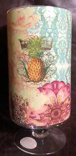 Beautiful Pineapple Cid Pear Glass Pedestal Vase NIB
