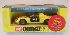 Corgi toys 344 ferrari 206 Dino Sport amarillo embalaje original German edition rara box #5445