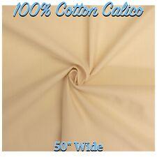 "CALICO FABRIC 100% Cotton Natural Calico 50""/127cm Wide Material (Per Metre)"