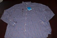 NWT MSRP $55 Columbia Men's Pink Blue Long Sleeve Lightweight Flannel  SIZE XL