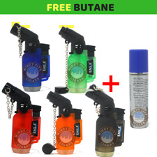 5 Pack 45 Degree Angle Eagle Torch Lighter Refillable Windproof with butane
