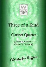 Wiggins: Three of a Kind for Clarinet Quartet Score & Parts CWP-139