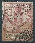 1924 REGNO USATO ENTI PARASTATALI 10 CENT - RR13804