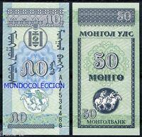 MONGOLIA 50 Mongo 1993 Pick 51 SC  / UNC