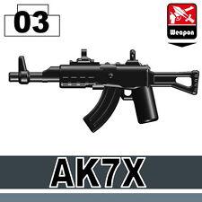 AK7x (W3) rifle compatible with toy brick minifigures ak-47