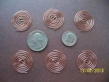 6 Small SBB COILS For ORGONE SUPPLIES / MAKING - Copper Coil Protector Size