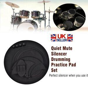 10pcs Drum Practice Pad Rubber Mute Snare Drum Pad Silent Sound Off Pad Kit UK