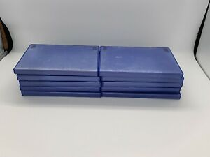 Job Lot Of 10 x Empty Official Blue PS2 cases/boxes - Genuine - Free P&P