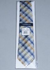 Neck Tie NEW Belle Grid by CROFT & BARROW Silk Lined Blue and Yellow NWT Mens