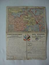Carte correspondance des armées Soissons Plateau de Craonne