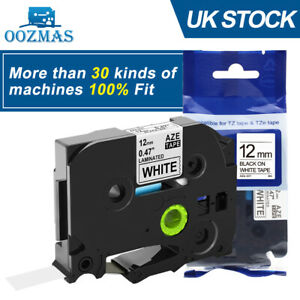 Compatible Label Tape fits Brother TZ-231 P-Touch Black On White 12mmx8m TZe-231