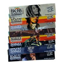 Bob Marley Cigarette Papers Pure Hemp - 5 Packs 33 Extra Long Leaves