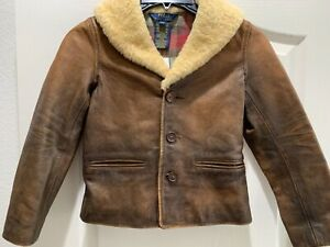New Polo Ralph Lauren Kids Girls leather jacket size 5